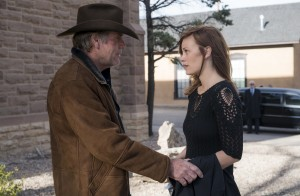 Robert Taylor and Cassidy Freeman in LONGMIRE. ©Netlfix. CR: Lewis Jacobs.
