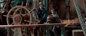 (l-r) Garrett Hedlund as Hook and Levi Miller as Peter Pan in PAN. ©Warner Bros. Entertainment.