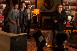 (l-r) Ryan Lee, Dylan Minnette, Odeya Rush and Jack Black star in Columbia Pictures' GOOSEBUMPS. ©CTMG CR: Hopper Stone/SMPSP.