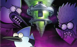 REGULAR SHOW: THE MOVIE. (DVD Artwork). ©Cartoon Network.