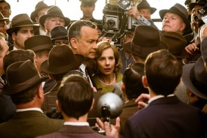 BRIDGE OF SPIES Tom James Donovan (Tom Hanks) and his wife Mary (Amy Ryan) become the target of anti-communist fears when Donovan agrees to defend a Soviet agent arrested in the U.S. in BRIDGE OF SPIES. ©Dreamworks. CR: Jaap Buitendijk.