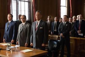Tom Hanks is Brooklyn lawyer James Donovan,  Mark Rylance is Rudolf Abel, and Billy Magnussen is Doug Forrester in the dramatic thriller BRIDGE OF SPIES. ©Dreamworks. CR: Jaap Buitendijk.