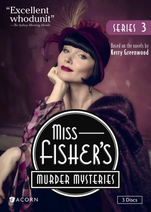 MISS FISHER'S MURDER MYSTERIES SEASON 3. (DVD Artwork). ©Acorn.