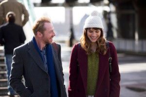(l-r) Simon Pegg and Lake Bell stars in MAN UP. ©Saban Films. CR: Giles Keyte.