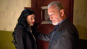 Robert Englund (right) stars in THE FUNHOUSE MASSACRE. ©Petri Entertainment. CR: David Sorcher.