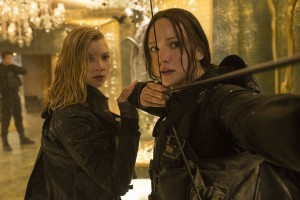 Cressida (Natalie Dormer, left) and Katniss Everdeen (Jennifer Lawrence, right) in THE HUNGER GAMES: MOCKINGJAY - PART 2. ©Lionsgate Entertainment. CR: Murray Close.