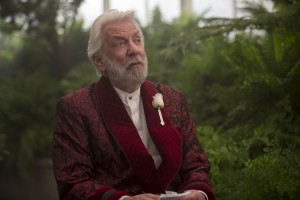 Donald Sutherland stars as 'President Snow' in THE HUNGER GAMES: MOCKINGJAY - PART 2. ©Lionsgate Entertainment. CR: Murray Close.