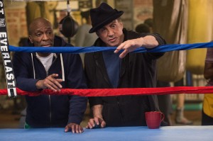 "(L-R) Ricardo ""Padman"" McGill as Padman and Sylvester Stallone as Rocky Balboa in CREED. ©Warner Bros. Entertainment/MGM Pictures. CR: Barry Wetcher."