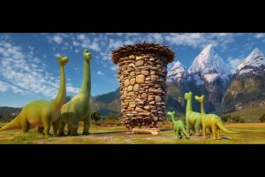 A family of dinosaurs in THE GOOD DINOSAUR. ©Disney/Pixar.
