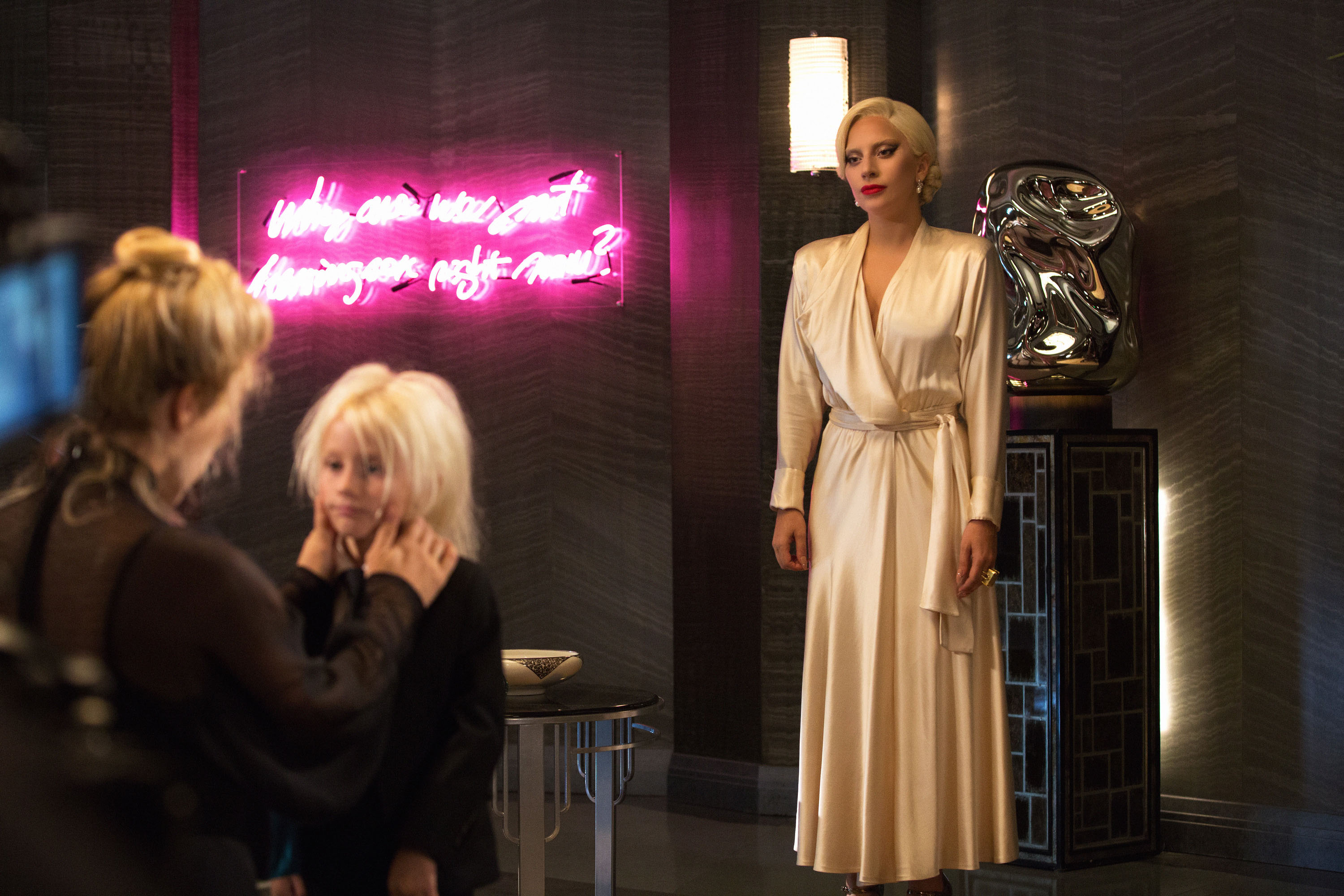 Lady Gaga on the Set of American Horror Story: Hotel
