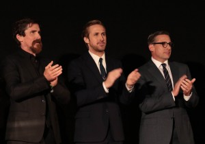 "Christian Bale, Ryan Gosling and Steve Carell attend the world premiere of Paramount Pictures' ""The Big Short"" at the Chinese Theatre, during the AFI Fest Closing Gala, on Thursday, November 12, 2015 in Los Angeles, CA. (Photo: Alex J. Berliner /ABImages)"