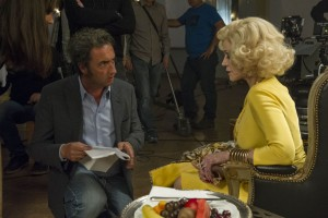 Director Paolo Sorrentino and Jane Fonda on the set of YOUTH. ©20th Century Fox. CR: Gianni Fiorito.