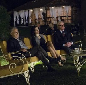 "(l-r) Harvey Keitel as ""Mick,"" Rachel Weisz as ""Lena"" and Michael Caine as ""Fred"" in YOUTH. ©20th Century Fox. CR: Gianni Fiorito."
