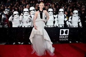 Actress Gwendoline Christie attends the World Premiere of STAR WARS: THE FORCE AWAKENS at the Dolby, El Capitan, and TCL Theatres on December 14, 2015 in Hollywood, California.  CR: Alberto E. Rodriguez/Getty Images for Disney.