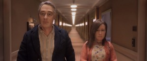 David Thewlis voices Michael Stone and Jennifer Jason Leigh voices Lisa Hesselman in the animated stop-motion film, ANOMALISA, ©Paramount Pictures.