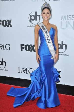 Miss Universe 2015 Winner Pia Alonzo Wurtzbach of the Philippines backtage at The 64th Annual Miss Universe Pageant held at the Planet Hollywood Resort & Casino in Las Vegas, NV on Sunday, December 20, 2015. (Photo By Sthanlee B. Mirador/Sipa USA)