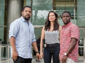 (L to R) ICE CUBE as James, OLIVIA MUNN as Maya and KEVIN HART as Ben star in RIDE ALONG 2. ©Universal Pictures. CR: Quantrell D. Colbert.