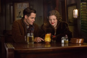 Chris PIne is Bernie Webber and Holliday Grainger is Miriam in Disney's THE FINEST HOURS. ©Disney Enterprises. CR: Claire Folger.