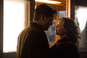 Chris Pine stars as Bernie Webber and Holliday Grainger as Miriam  in the heroic action-thriller THE FINEST HOURS. ©Disney Enterprises. CR: Claire Folger.