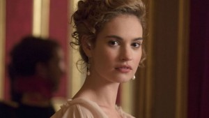 Lily James stars in WAR AND PEACE. ©A&E.