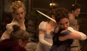 (l-r) Lily James and Bella Heathcote in Screen Gems' PRIDE AND PREJUDICE AND ZOMBIES. ©CTMG. CR: Jay Maidment.
