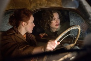 (l-r) Rachel Brosnahan is Bea and Holliday Grainger is Miriam in Disney's THE FINEST HOURS. ©Disney Enterprises. CR: Claire Folger.