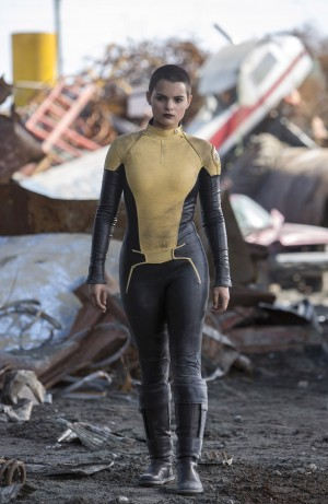Brianna Hildebrand is the mutant Teenage Negasonic Warhead, in DEADPOOL.©20th Century Fox / Marvel. CR: Joe Lederer.