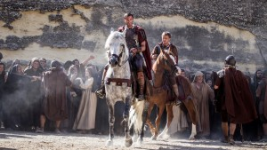 Clavius (Joseph Fiennes, left) and Lucius (Tom Felton)  in Columbia Pictures' RISEN. ©CTMG. CR: Rosie Collins.