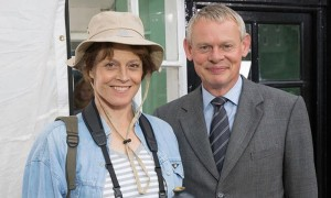 Sigourney Weaver and Martin Clunes in DOC MARTIN. ©PBS.