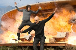 (l-r) Sacha Baron Cohen and Mark Strong star in Columbia Pictures' THE BROTHERS GRIMSBY. ©CTMG. CR: Daniel Smith.