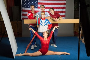 (top, left to right) Sebastian Stan, Gary Cole, Thomas MIddleditch, Melissa Rauch and Haley Lu Richardson star in THE BRONZE. ©Sony Pictures Classics. CR: Alicia Gbur.