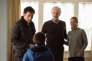 (l-r) Clive Owen, Matthew Modine and Maria Bello in THE CONFIRMATION. ©Lionsgate Entertainment.