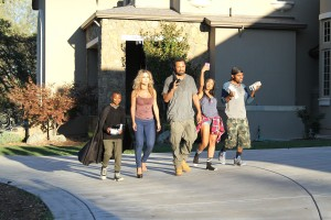 (l-r) Alex Henderson, Zulay Henao, Mike Epps, Bresha Webb and Lil Duval star in MEET THE BLACKS. ©Hidden Empire Media  Group.