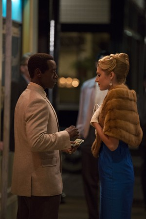 Don Cheadle as Miles Davis and Morgan Wolk as Erica in MILES AHEAD. ©Sony Pictures Classics. CR: Brian Douglas.