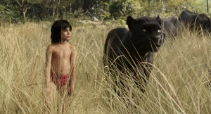 Mowgli (newcomer Neel Sethi) and Bagheera (voice of Ben Kingsley) embark on a captivating journey in THE JUNGLE BOOK. ©Disney Enterprises.