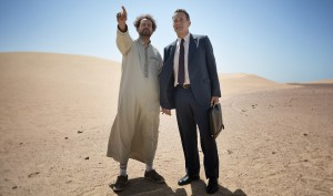 Alexander Black and Tom Hanks in Tom Tykwer's A HOLOGRAM FOR THE KING. ©Roadside Attractions. CR: Helmut Prein.