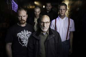 Patrick Stewart, Brent Werzner, Samuel Summer, Colton Ruscheinsky and Mason Knight star in Jeremy Saulnier's GREEN ROOM. ©A24. CR: Scott Patrick Green.