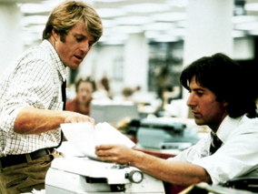 "Robert Redford and Dustin Hoffman star in ""All the President's Men,"" which won four Oscars in 1977. Photo: Warner Bros."