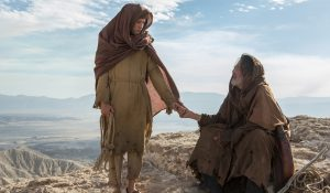 (l to r) Tye Sheridan stars as 'Son' and Ciarán Hinds as 'Father' in the imagined chapter of Jesus' forty days of fasting and praying, LAST DAYS IN THE DESERT. ©Broad Green Pictures. CR: Gilles Mingasson / Broad Green Pictures
