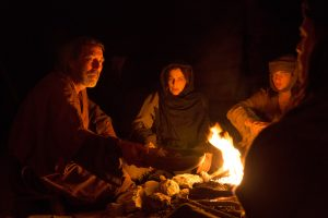 (l to r) Ciarán Hinds stars as 'Father', Ayelet Zurer as 'Mother', Tye Sheridan as 'Son' and Ewan McGregor as 'Jesus' in LAST DAYS IN THE DESER., ©Broad Green Pictures. CR: François Duhamel / Broad Green Pictures