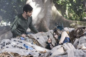 (L-R) Ethan Peck as Thomas and India Eisley as Briar Rose in the thriller film THE CURSE OF SLEEPING BEAUTY. ©XLrator Media.