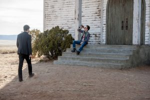(l-r) Dominic Cooper as Jesse Custer ad Joseph Gilgun as Cassidy in PREACHER. ©AMC Networks Entertainment. CR:Lewis Jacobs/Sony PIctures Televsion/AMC