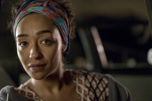 Ruth Negga as Tulip O'Hare in PREACHER. ©AMC Networks/Sony Pictures Television. CR:  Lewis Jacobs/Sony Pictures Television/AMC