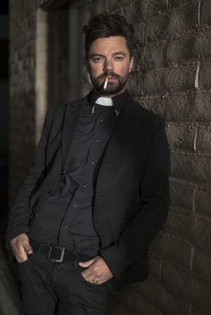Dominic Cooper as Jesse Custer in PREACHER. ©AMC Networks / Sony Pictures Television. CR: Lewis Jacobs/Sony Pictures Television/AMC