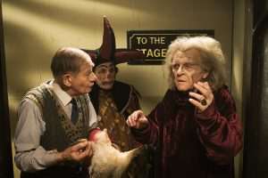 (l-r) Ian McKellen as Norman, Edward Fox as Geoffrey Thornton and Anthony Hopkins as Sir in THE DRESSER. ©Playground Television Limited UK.