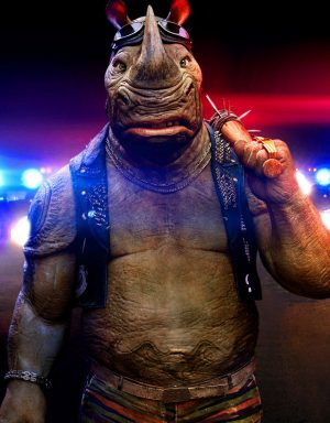 Stephen Farrelly stars as Rocksteady in TEENAGE MUTANT NINJA TURTLES: OUT OF THE SHADOWS. ©Paramount Pictures.
