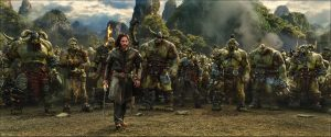 Surrounded by orcs, Commander Anduin Lothar (TRAVIS FIMMEL) knows that the battle is far from over in WARCRAFT. ©Universal Pictures / Legendary Pictures / ILM.