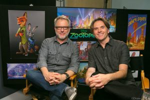 (l-r) Rich Moore and Byron Howard at the ZOOTOPIA Global Press Event. ©Disney. CR: Kayvon Esmaili.