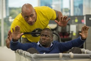 (from top) Dwayne Johnson as Bob Magnum and Kevin Hart aas Calvin Joyner in CENTRAL INTELLIGENCE. ©Warner Bros. Entertainment. CR: Claire Folger.