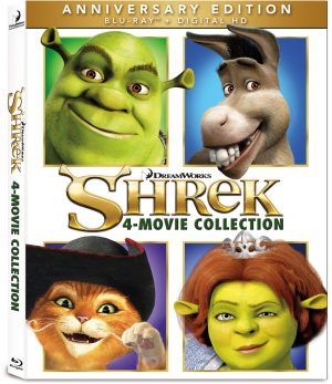 SHREK 4-MOVIE COLLECTION. (DVD Artwork). ©Dreamworks Animation.